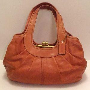 Coach Ergo Leather Burnt Orange Purse Handbag